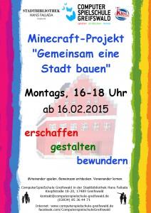 Minecraft Stadtbau 2015_2