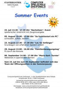 Plakat Sommerevents 3